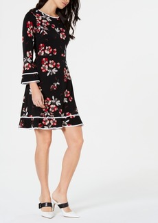 Alfani Floral-Print Fit & Flare Dress, Created for Macy's