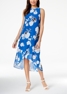 Alfani Floral-Print High-Low Dress, Created for Macy's