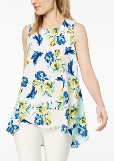 Alfani Petite Floral-Print Swing Top, Created for Macy's
