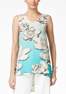 Alfani Floral-Print High-Low Top, Only at Macy's