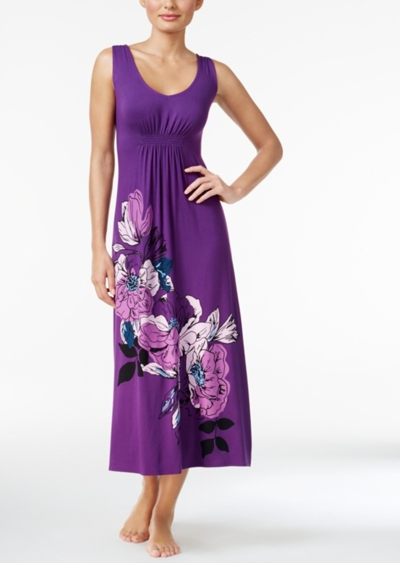 On Sale Today Alfani Alfani Floral Print Knit Nightgown