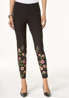 Alfani Petite Half-Print Skinny Pants, Created for Macy's
