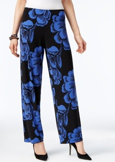Alfani Petite Printed Wide-Leg Pull-On Pants, Only at Macy's