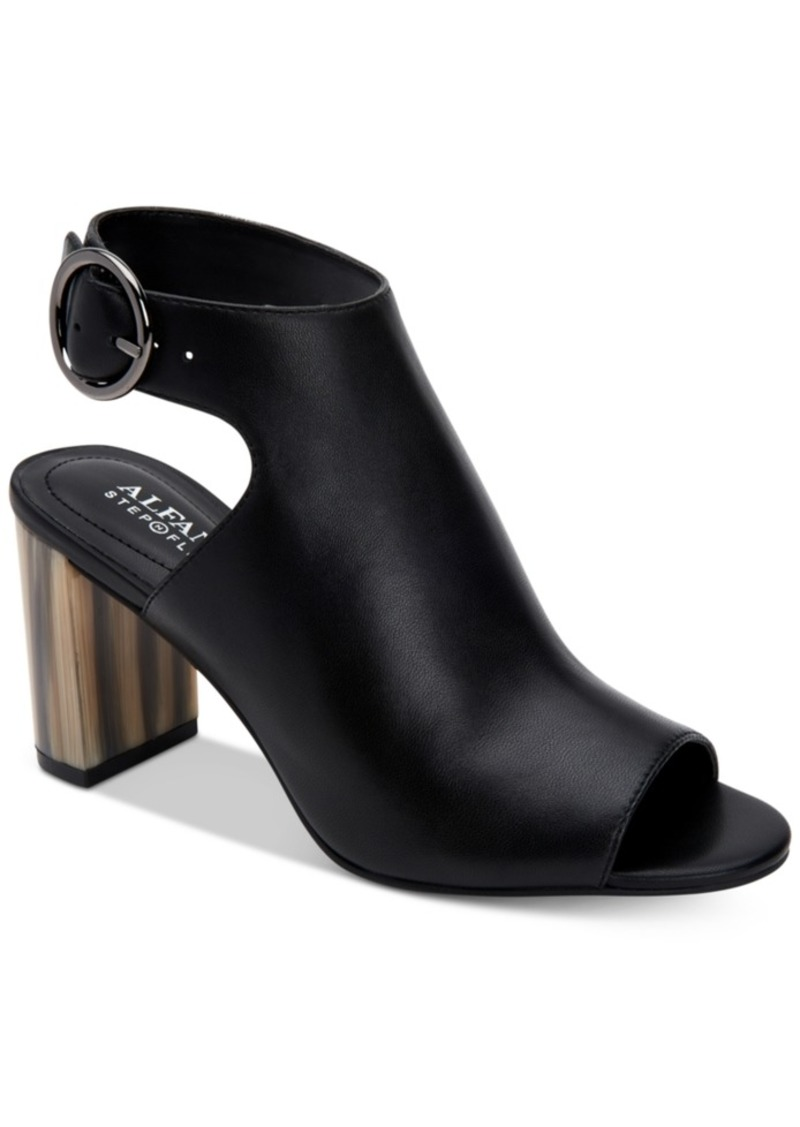Alfani Floriss Step 'N Flex Horn Block-Heel Shooties, Created for Macy's Women's Shoes