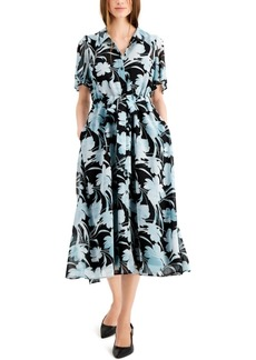 Alfani Flutter Sleeve Dress, Created for Macy's