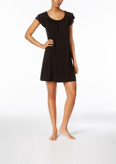Alfani Flutter Sleeve Pindot Short Nightgown, Created for Macy's