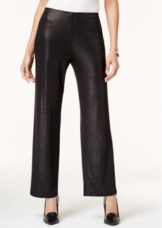 Alfani Petite Metallic Wide-Leg Pants, Created for Macy's