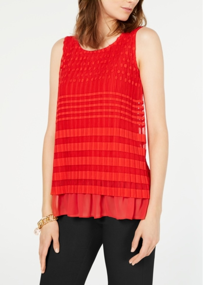 Alfani Geo-Lace Top, Created for Macy's