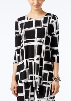 Alfani Geo-Print High-Low Tunic Top, Only at Macy's