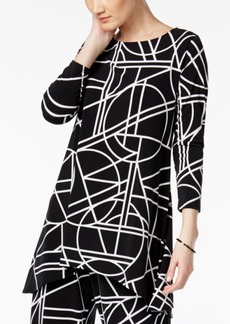 Alfani Geo-Print High-Low Tunic Top, Created for Macy's