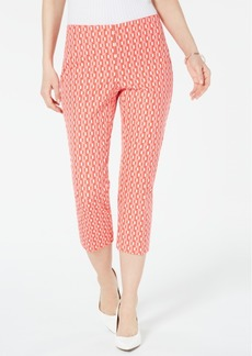 Alfani Geometric-Print Cropped Pants, Created for Macy's