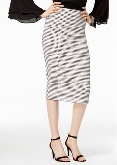 Alfani Gingham Midi Pencil Skirt, Only at Macy's