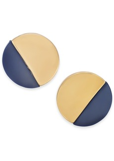 Alfani Acrylic Round Button Earrings, Created for Macy's