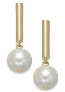 Alfani Bar & Imitation Pearl Drop Earrings, Created for Macy's