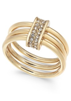 Alfani Pave Link Triple-Row Ring, Created for Macy's