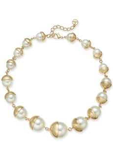 """Alfani Imitation Pearl All-Around Necklace, 19"""" + 2"""" extender, Created for Macy's"""