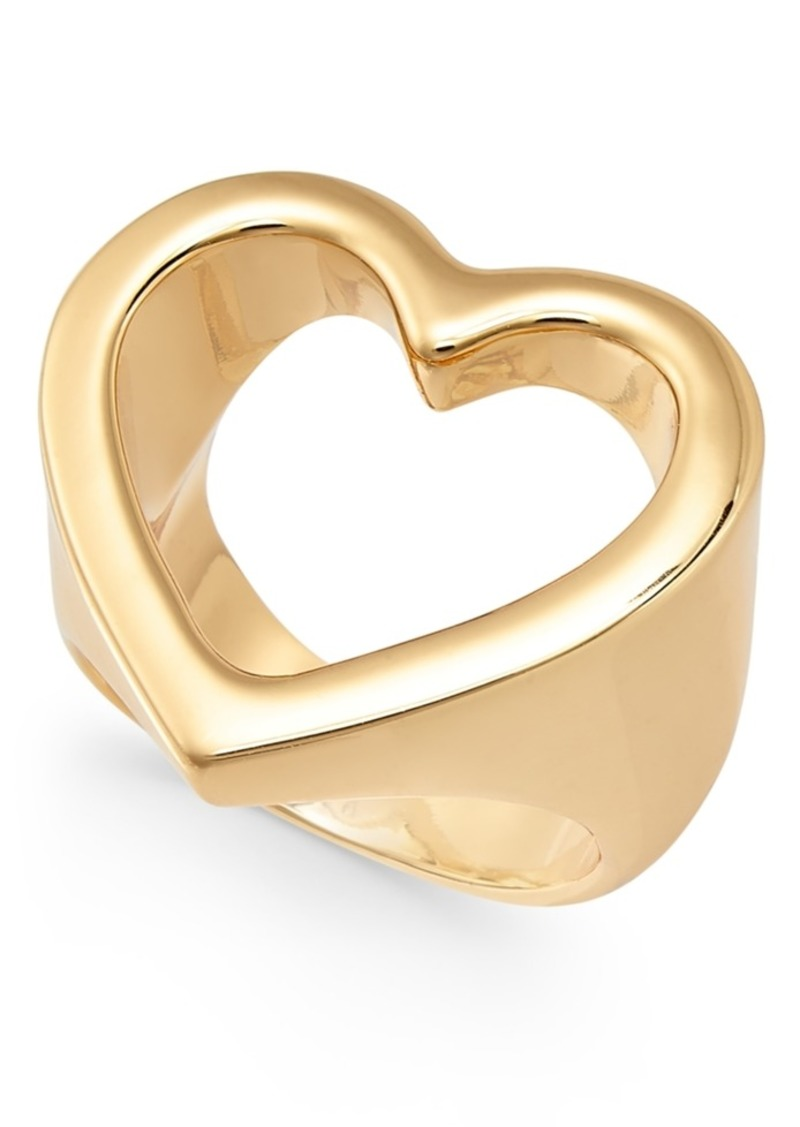 Alfani Gold-Tone Open Heart Ring, Created For Macy's