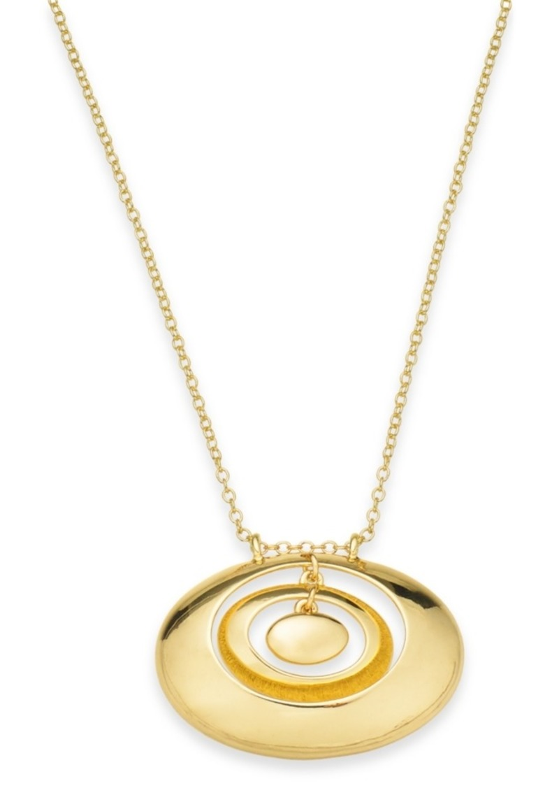 "Alfani Gold-Tone Orbital Circle Pendant Necklace, 32"" + 2"" extender, Created For Macy's"