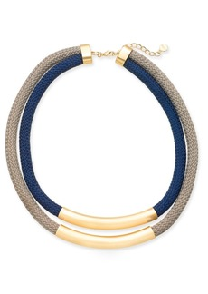Alfani Gold-Tone Woven Rope Layered Statement Necklace, Created for Macy's