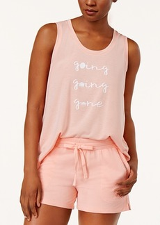 Alfani Graphic-Print Pajama Tank Top, Created for Macy's
