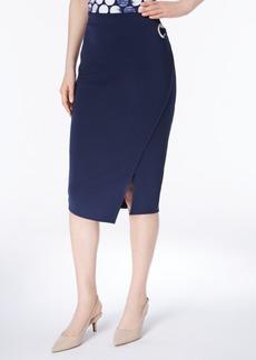 Alfani Grommet Scuba Wrap Skirt, Created for Macy's