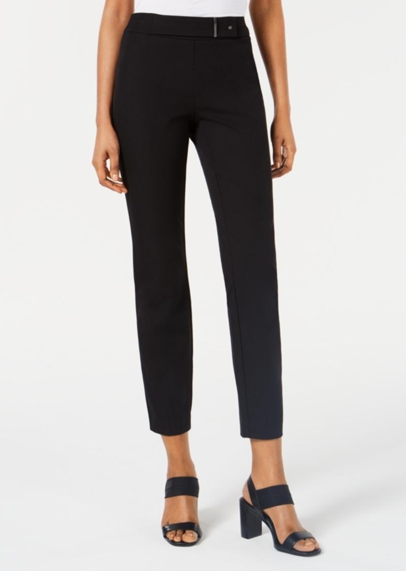 Alfani Hardware-Detail Pull-On Skinny Pants, Created for Macy's
