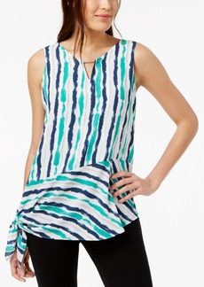 Alfani Hardware-Detail Tie-Hem Top, Created for Macy's