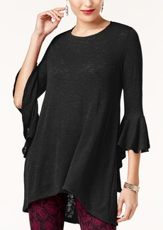 Alfani High-Low Bell-Sleeve Tunic, Created for Macy's