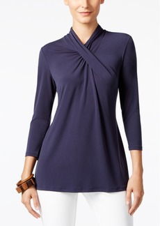 Alfani High-Neck Top, Only at Macy's
