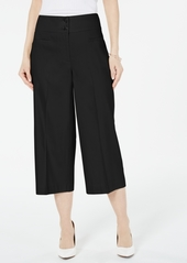 Alfani High-Waisted Button Culotte Pants, Created for Macy's