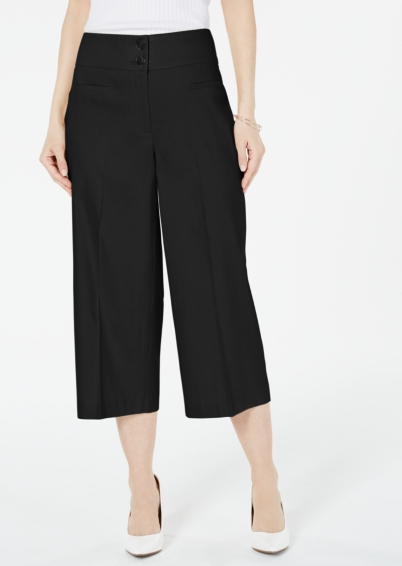 Alfani Petite Wide-Leg Linen Pants, Created For Macy's