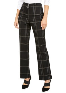Alfani High-Waisted Plaid Pants, Created for Macy's