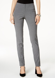 Alfani Hollywood Jacquard Skinny Pants, Created for Macy's