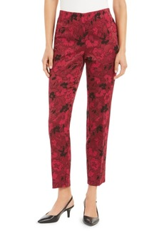 Alfani Hollywood-Waist Jacquard Slim Pants, Created for Macy's