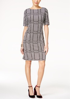 Alfani Houndstooth Sheath Dress, Created for Macy's