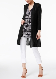 Alfani Illusion-Knit Cardigan, Only at Macy's