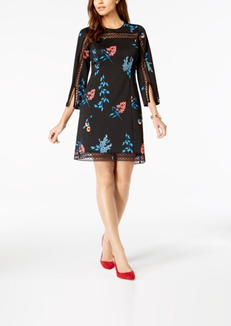 Alfani Illusion-Lace Shift Dress, Created for Macy's