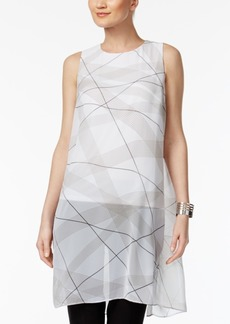 Alfani Illusion-Overlay Tunic Top, Created for Macy's