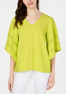 Alfani Inset-Sleeve Top, Created for Macy's