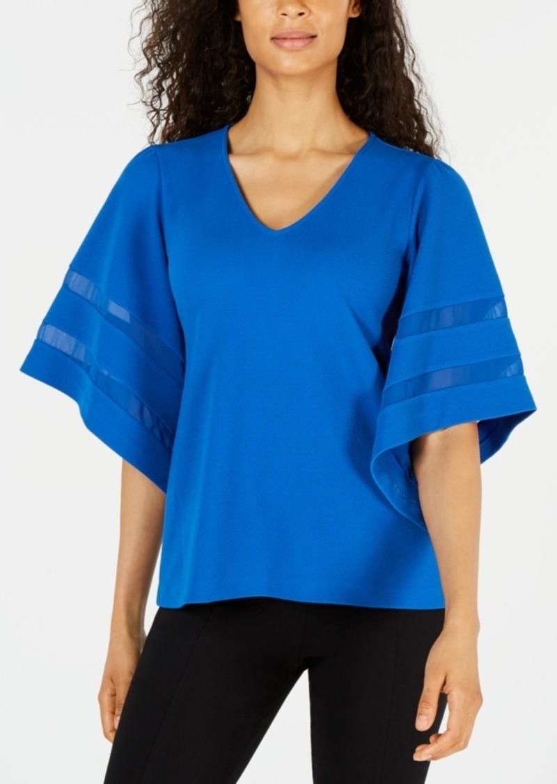 Alfani Inset-Sleeve Top, Created for Macy's