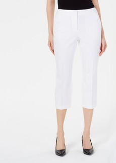 Alfani Invisible-Zip Capri Pants, Created for Macy's