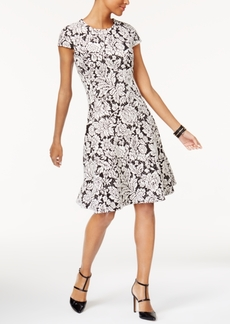 Alfani Jacquard Fit & Flare Dress, Created for Macy's
