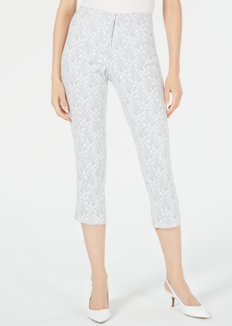 Alfani Jacquard High-Waist Cropped Pants, Created for Macy's