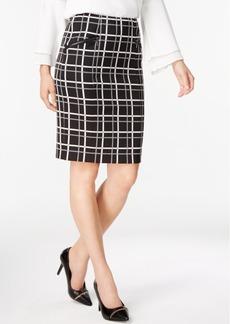Alfani Jacquard Pencil Skirt, Created for Macy's