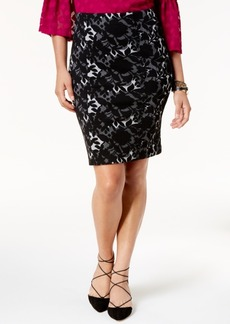 Alfani Jacquard Pencil Skirt, Created for Macy's
