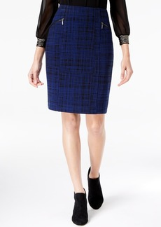 Alfani Jacquard Zipper Pencil Skirt, Created for Macy's