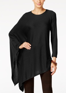 Alfani Knit Asymmetrical Poncho, Only at Macy's