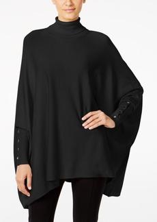 Alfani Knit Turtleneck Poncho, Only at Macy's