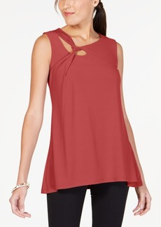 Alfani Knot-Detail Keyhole Top, Created for Macy's
