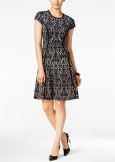 Alfani Lace A-Line Dress, Only at Macy's